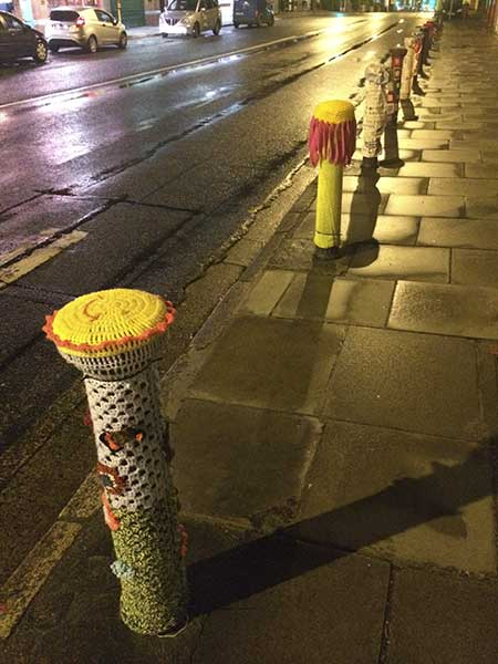 yarn bombed posts