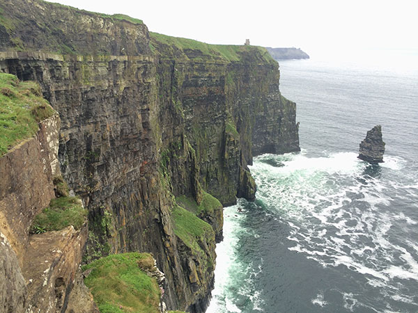 moher cliff with tower
