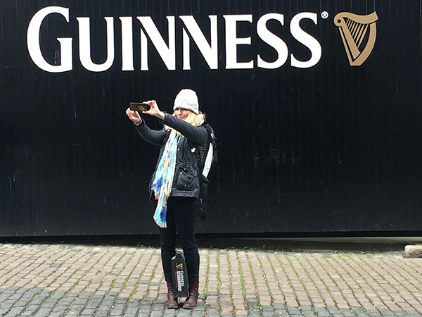 m with the guiness gate